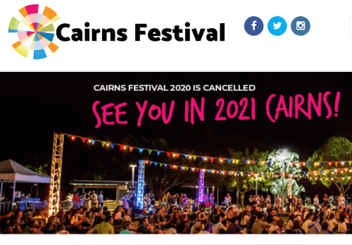 Cairns Festival 2020 - Cancelled