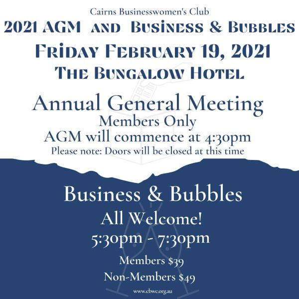 CBWC – 2021 AGM Business & Bubbles