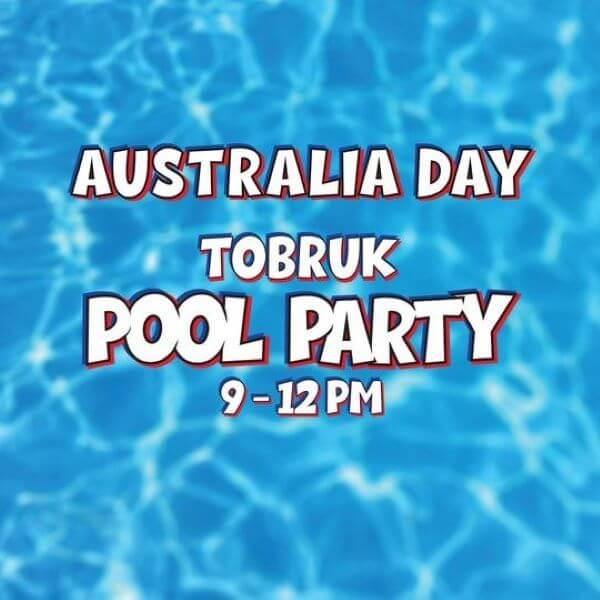 Australia Day Tobruk Pool Party
