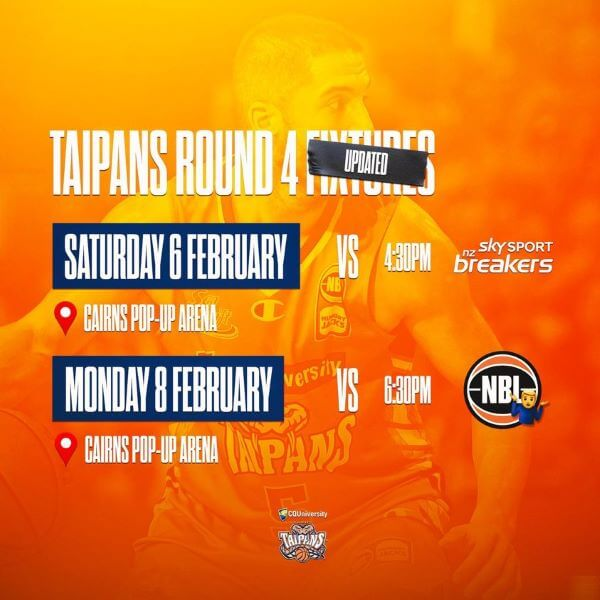 Cairns Taipans VS NZ Breakers – Round 4 2021
