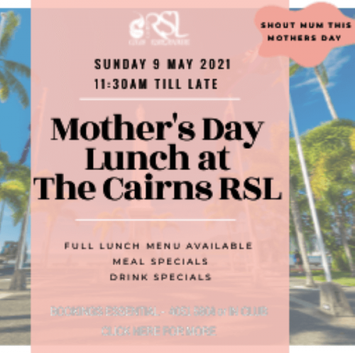 Mothers Day Lunch at Cairns RSL Club