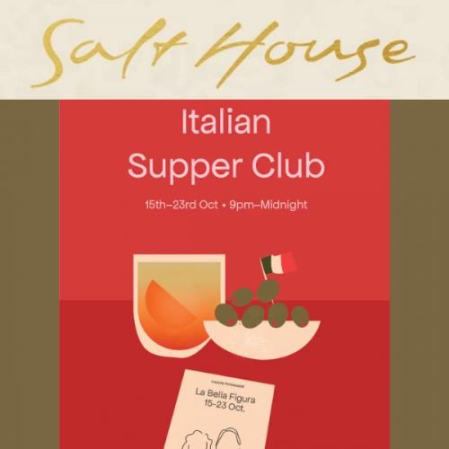 Italian Supper Club at Salt House